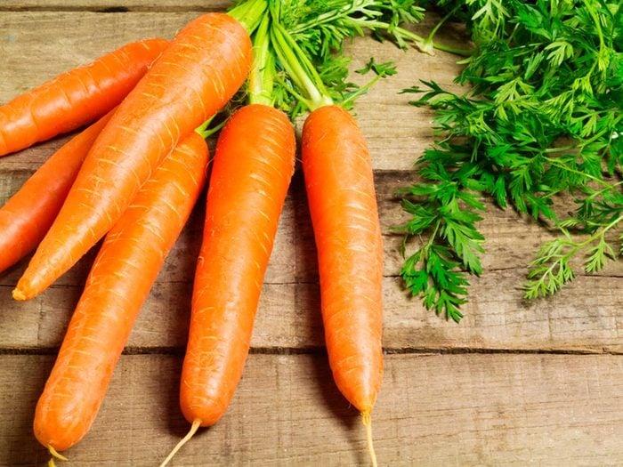 Quoi manger avant un entrainement: des carottes.