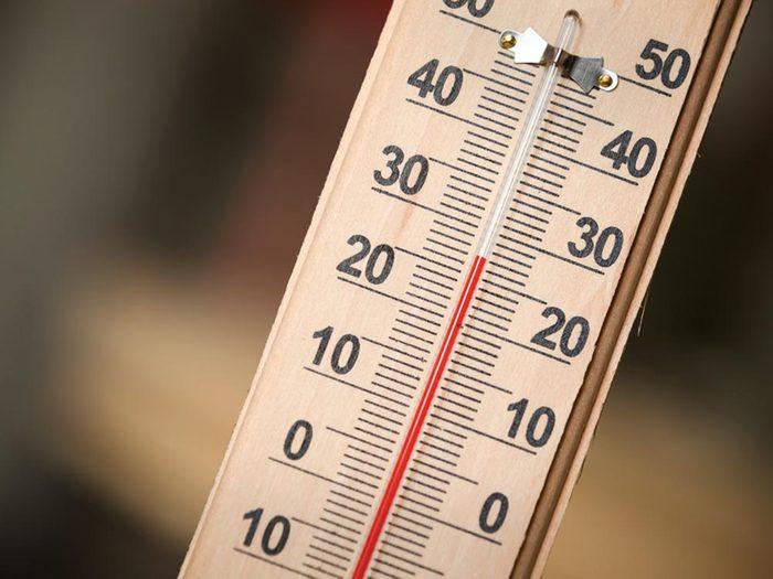 Lors du solstice d'été, il ne fait pas plus chaud.