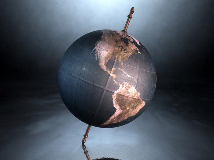 Lors du solstice d'été, la Terre est plus inclinée.
