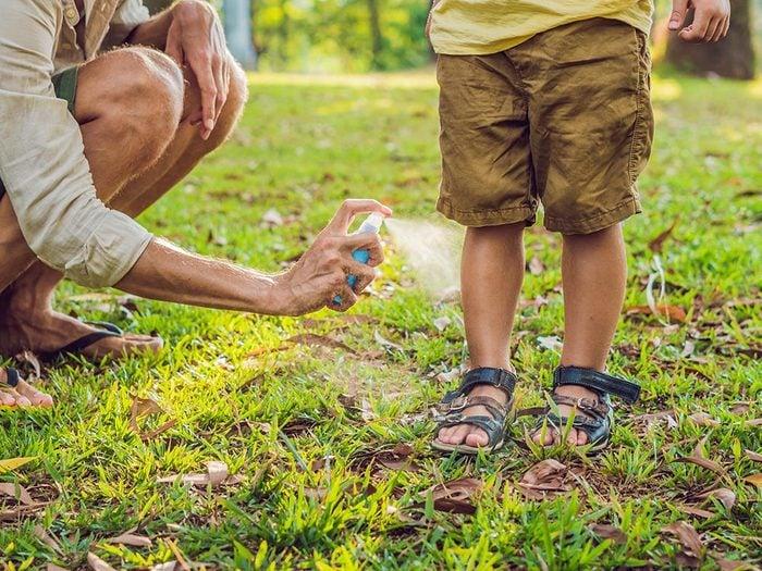 Utilisez des insecticides pour repousser les tiques du québec.