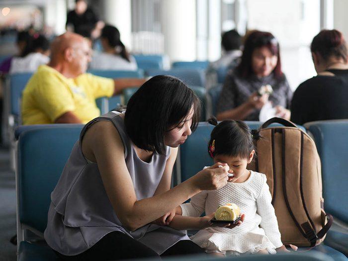 L'aéroport de Calgary a installer un zone pour les enfants.