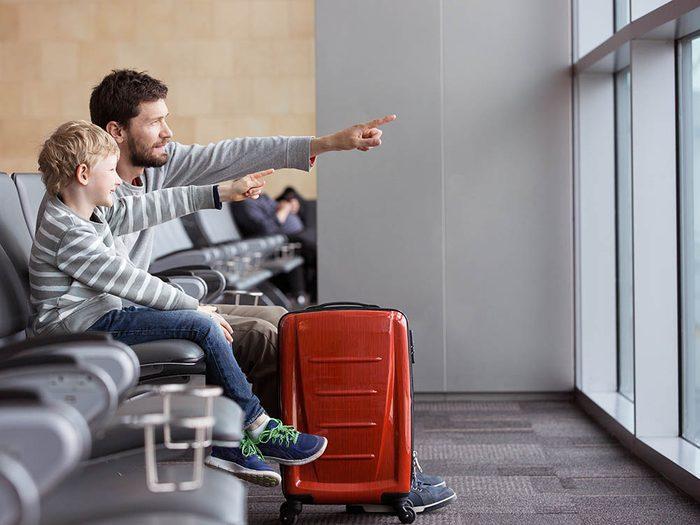 L'aéroport de Toronto a installer un zone pour les enfants.