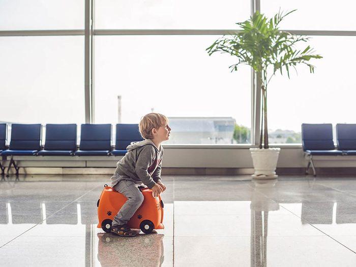 L'aéroport de Winnipeg a installer un zone pour les enfants.