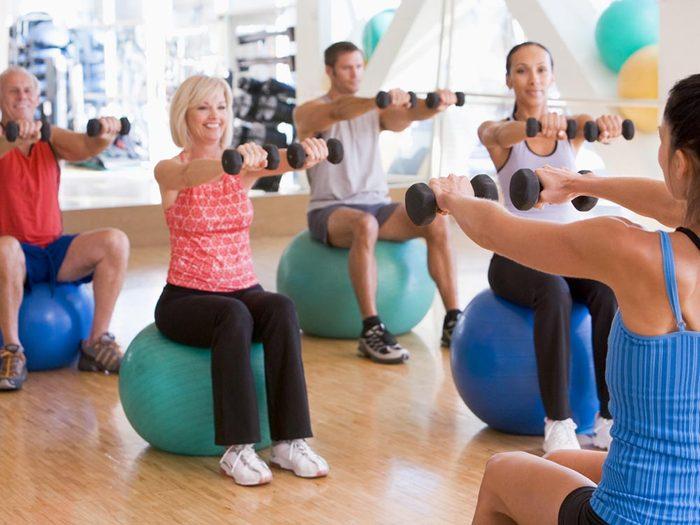 Pour aider votre coeur, faites de l'exercice.