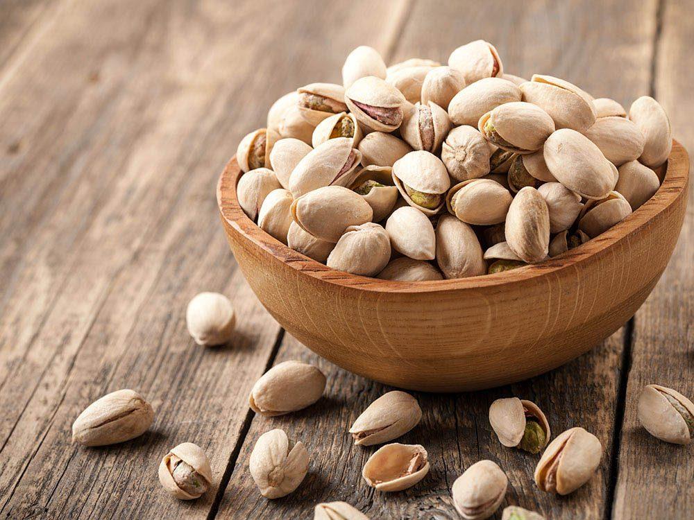 Aliments brûle-graisses: les pistaches.