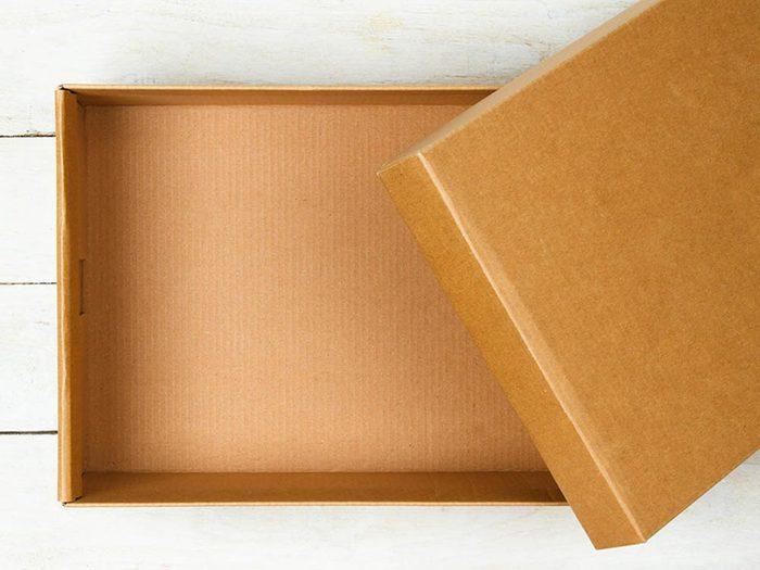 Avant cet automne, débarrassez-vous de vos boîtes vides.