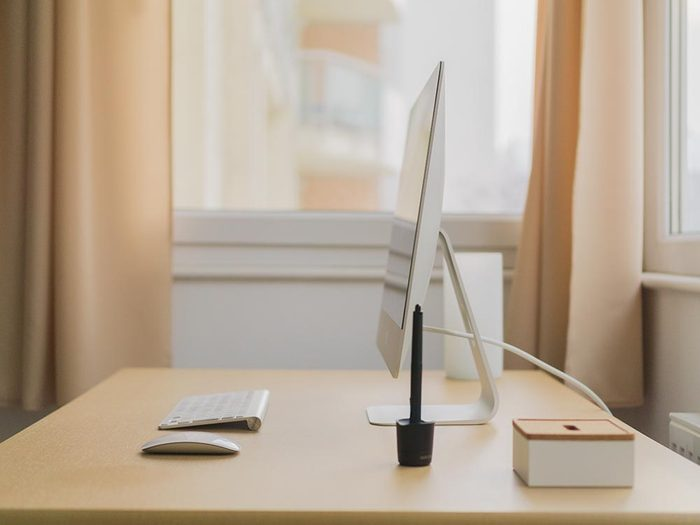Votre bureau à la maison doit être désencombré.