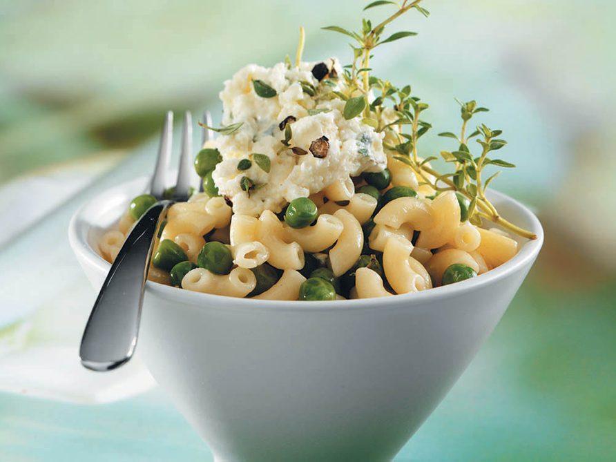 La bonne cuisine avec 3 fois rien: les macaronis aux petits pois.