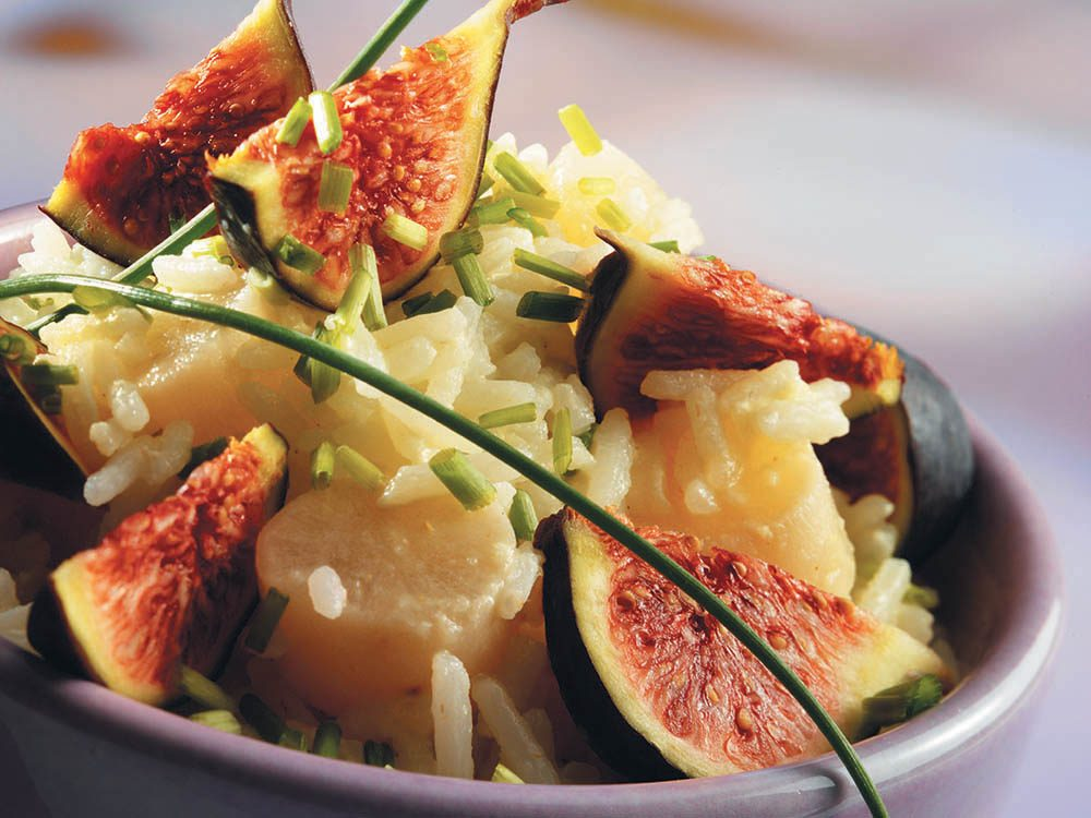salade d automne figues riz salsifis et ciboulette. Black Bedroom Furniture Sets. Home Design Ideas