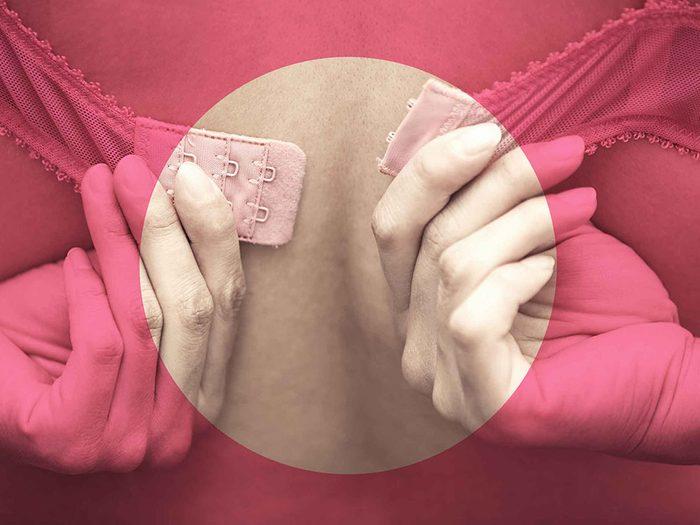 Un soutien-gorge peut cause une douleur aux seins.