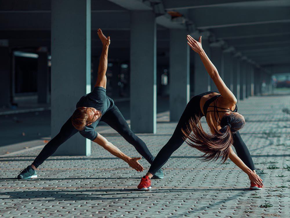 L'étirement fait travailler le muscle.