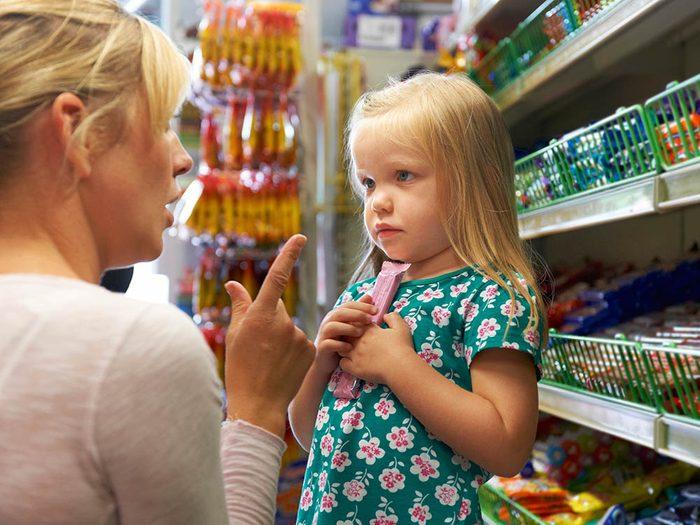 Il est inutile de s'excuser de gérer une colère d'enfant au supermarché.