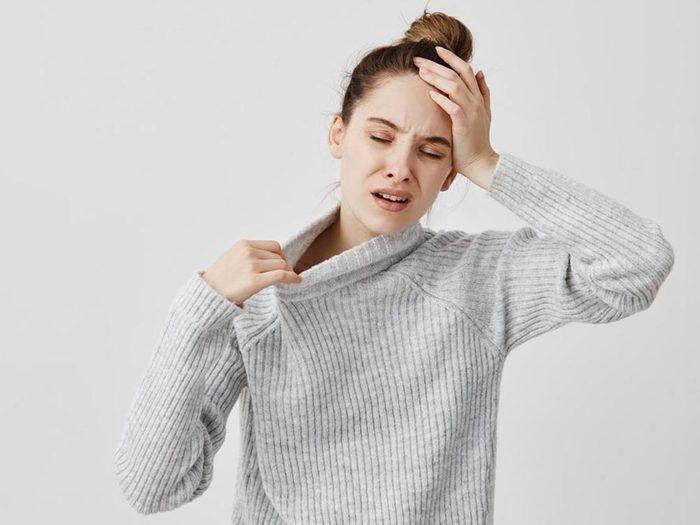 Un symptôme de l'hypoglycémie est la grippe cétogène.