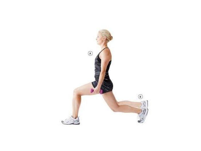 La fente isométrique avec impulsion pour tonifier les jambes et les fessiers.
