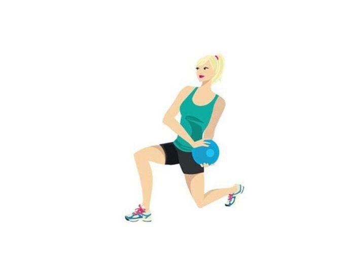 Exercices avec le ballon: le Ballon Médicinal pour raffermir.