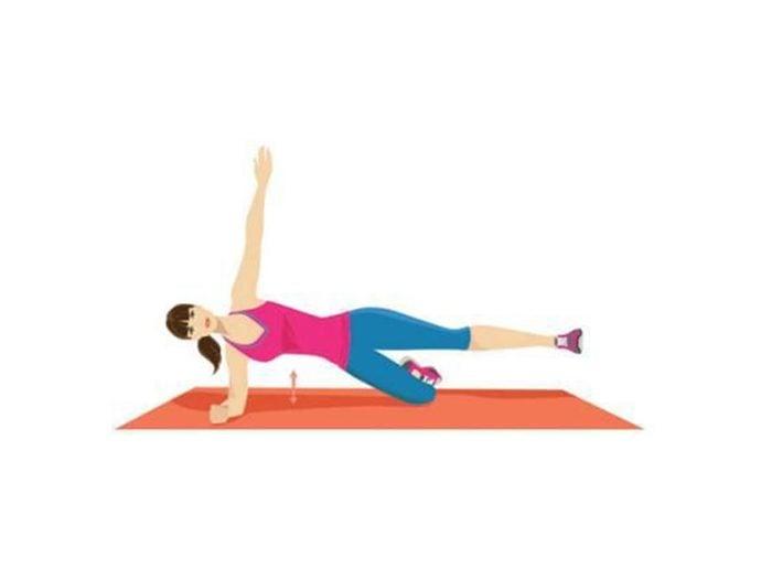 La planche latérale et le lever de jambes pour raffermir.