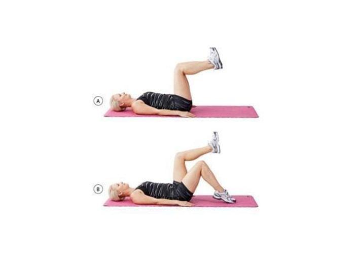 Première série d'exercices pour maigrir (muscles fessiers).