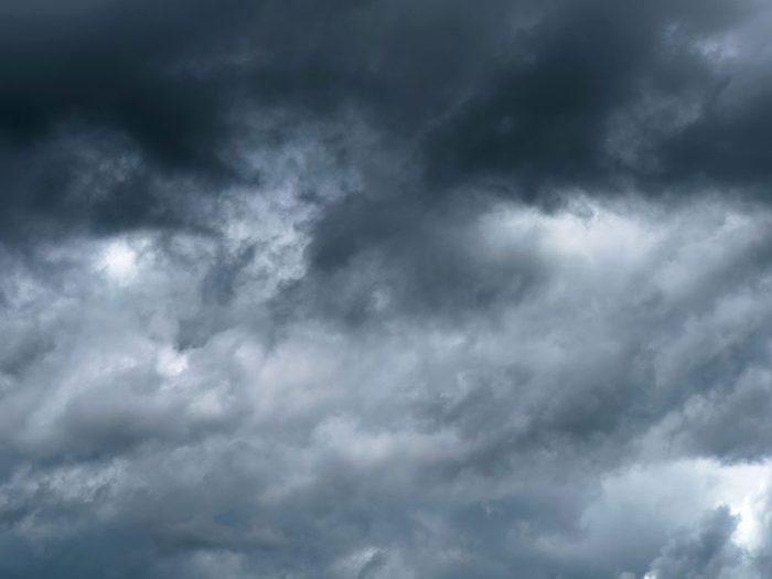L'odeur de l'air change quand vient l'orage.