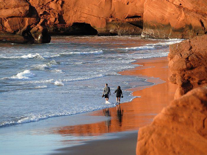 La plage de la dune du Sud aux Îles-de-la-Madeleine fait partis des plus belles plages du Québec.