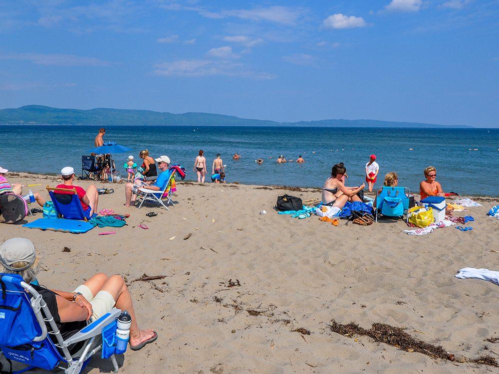 La plage Haldimand en Gaspésie fait partie des plus belles plages du Québec.
