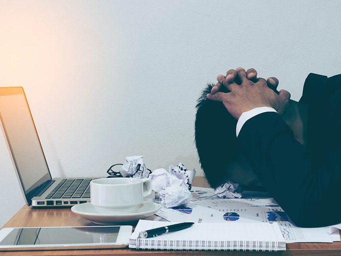 La réaction au stress influe plus tard sur la santé.