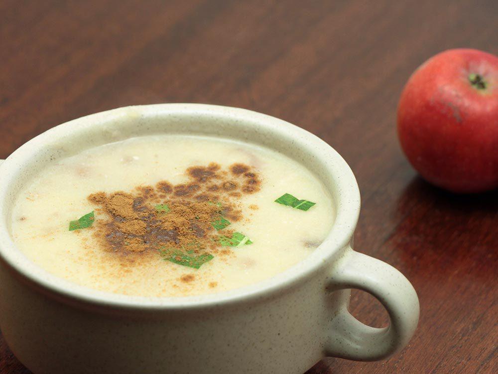 Recettes avec des pommes: l'apfelsuppe