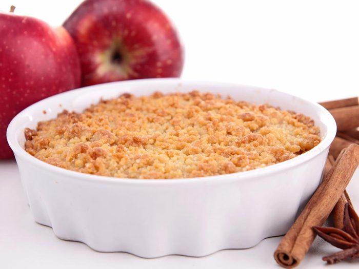 Recettes avec des pommes: essayez la croustade pommes cannelle.