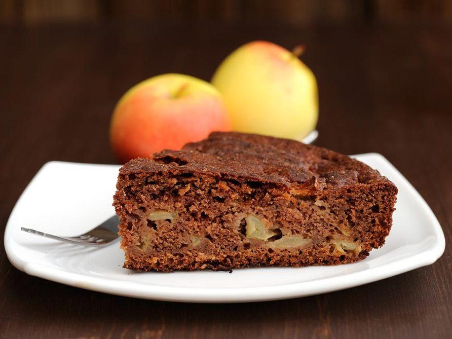 Recettes avec des pommes: savourez notre gâteau au chocolat et aux pommes.