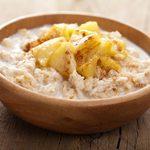 Recette santé de gruau aux pommes et aux graines de lin