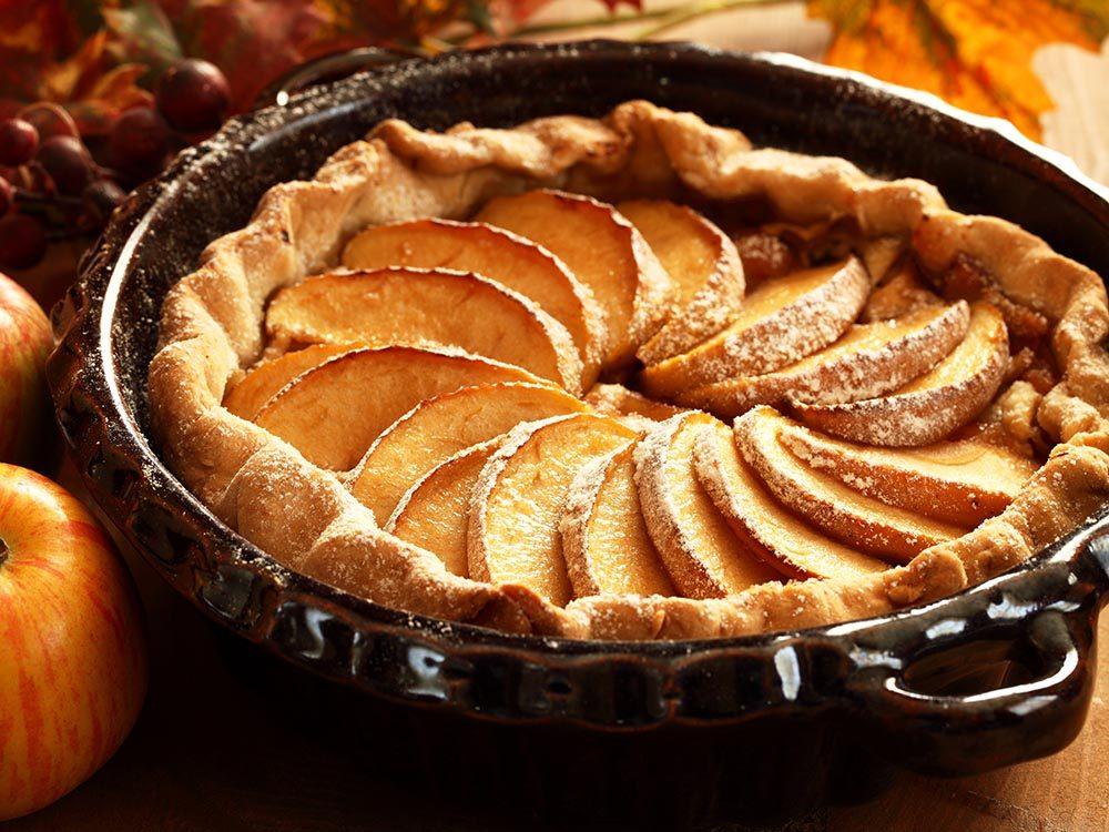 Recettes avec des pommes: essayez la tarte suprême.