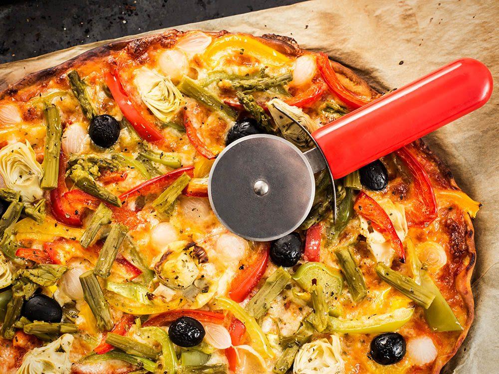 Recettes de pizza: extra légumes
