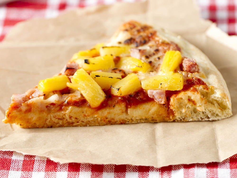 Recettes de pizza faibles en calories: l'hawaïenne.
