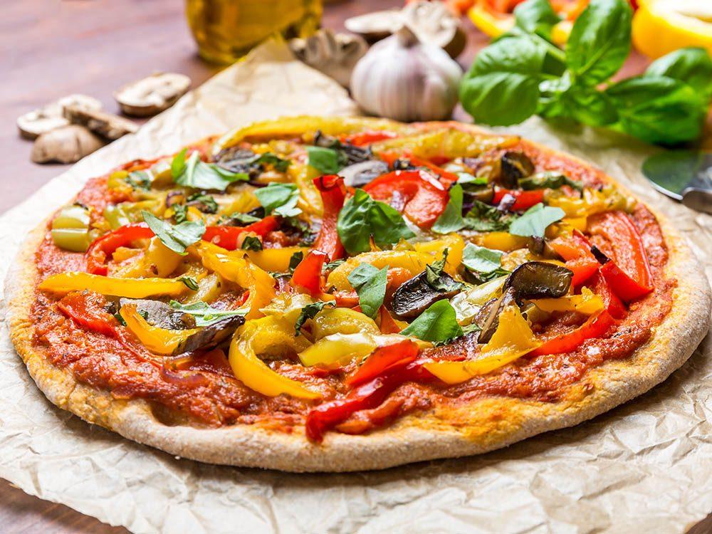 Recettes de pizza santé: la végétarienne.