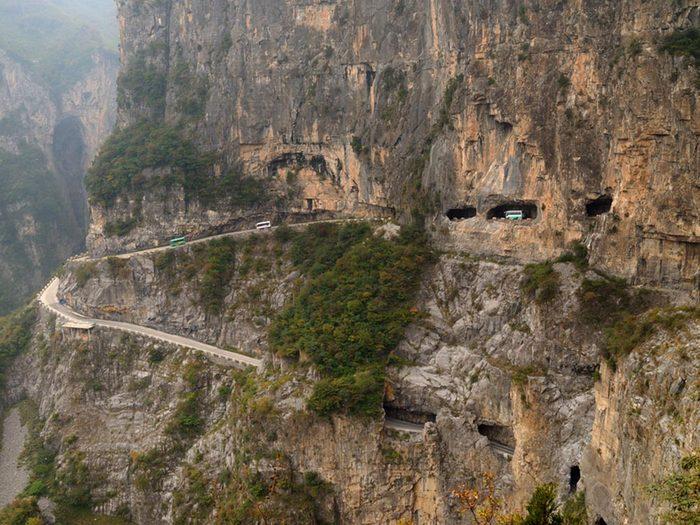 L'une des routes les plus dangereuses du monde se trouve en Chine.