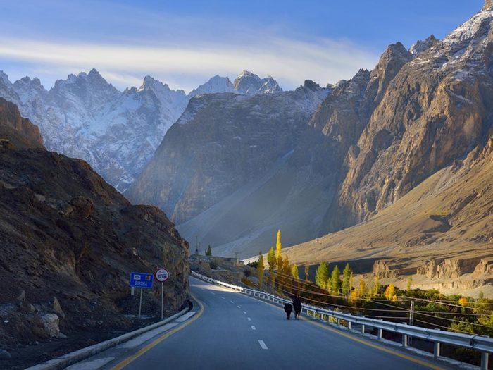 L'une des routes les plus dangereuses du monde se trouve entre la Chine et le Pakistan.