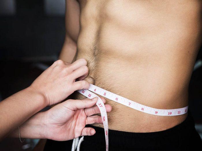 Santé des hommes: une perte de poids involontaire ne doit pas être ignorée.