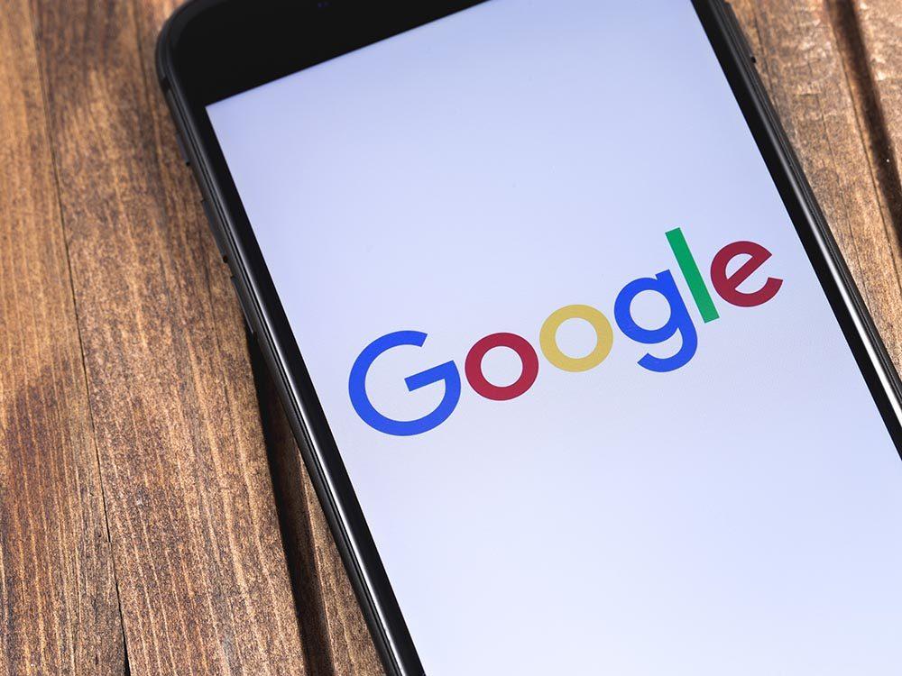 Google utilise toutes les informations des téléphones intelligents androïd.