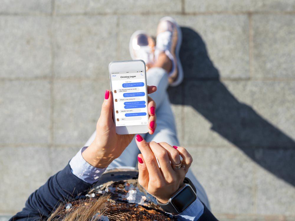 Votre téléphone intelligent conserve tous vos messages.