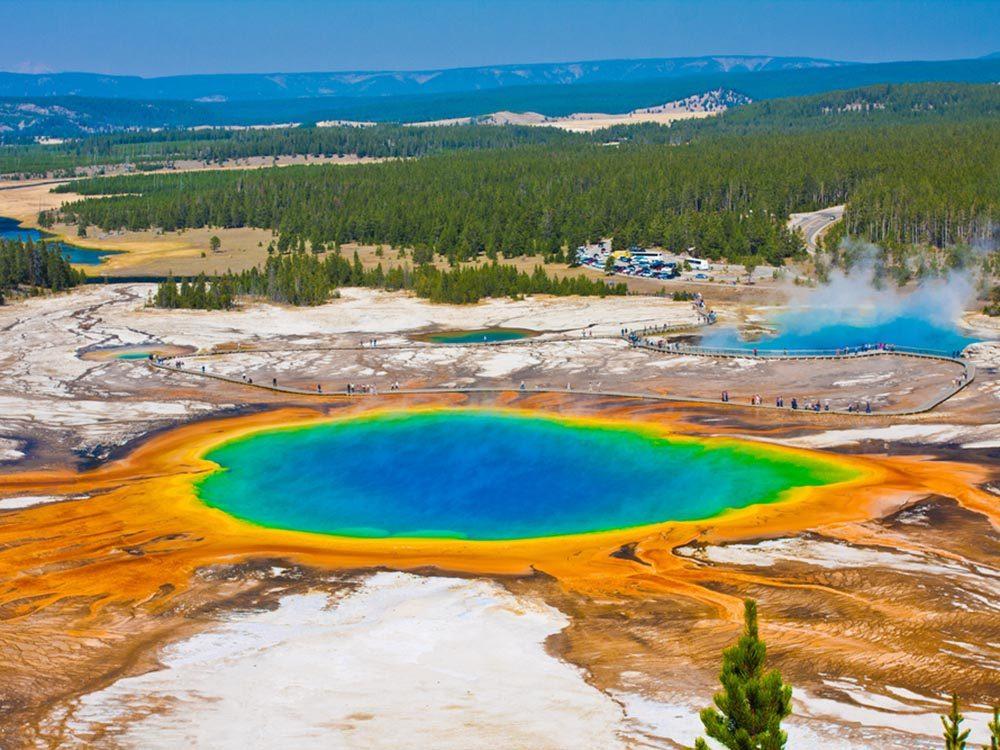 Visitez le volcan en activité du parc national du Wyoming.