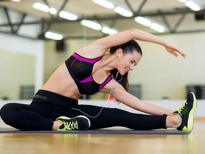 Ne faites pas du yoga chaud et des exercices physiques le même jour.