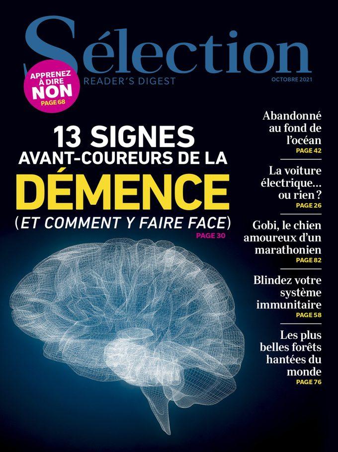 Couverture du magazine Sélection du Reader's Digest du mois d'octobre 2021.