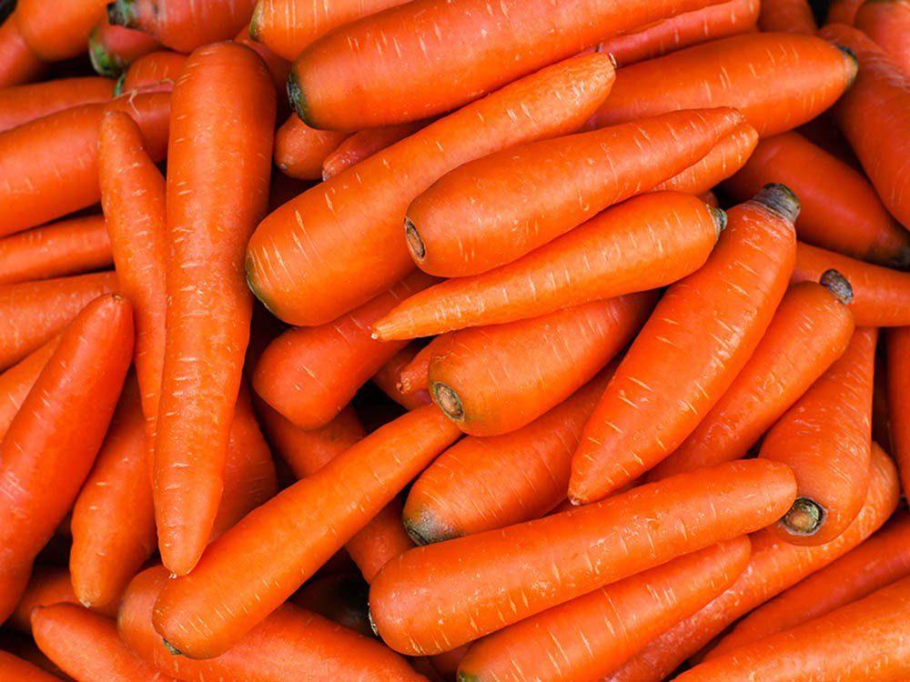 Aliment santé: mangez des carottes en petite quantité seulement.