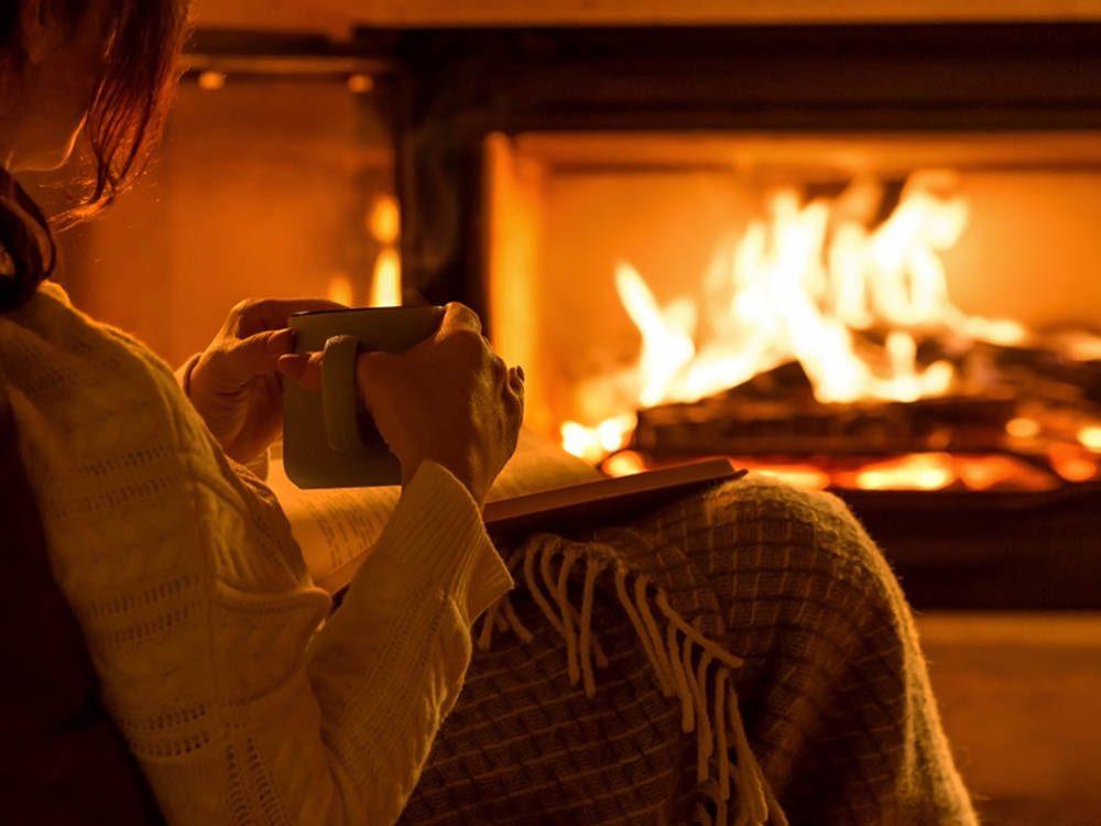 En automne, profitez des feux de cheminée.