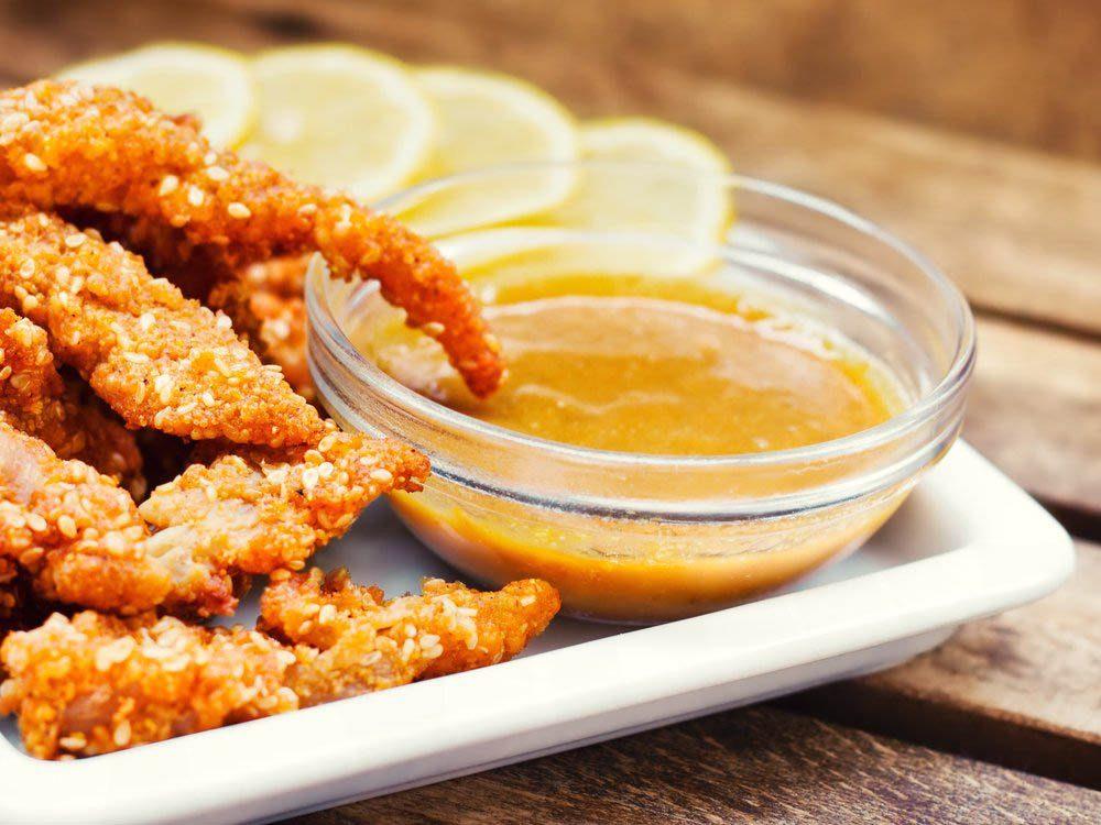 Évitez les condiments comme la moutarde au miel.