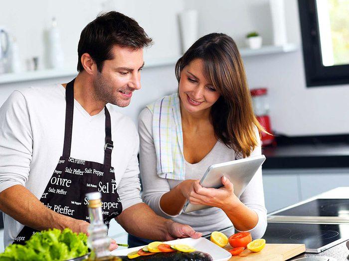 Graisse abdominale: planifiez ce que vous allez manger.