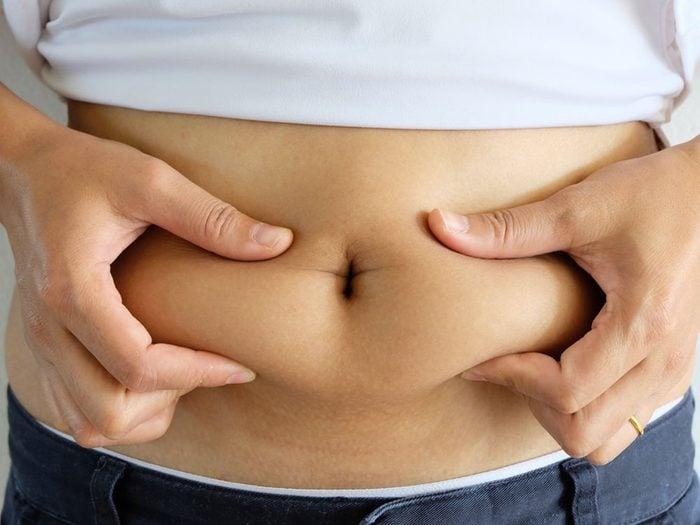 La graisse abdominale est la plus dangereuse.