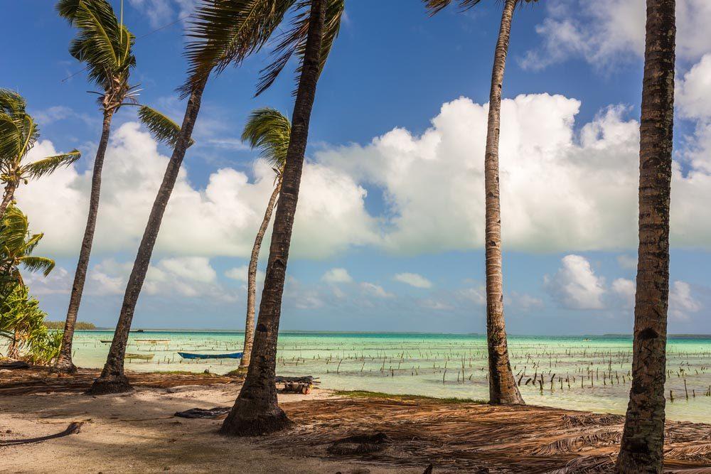 Les îles Kiribati font parties des îles qui disparaîtront d'ici 80 ans.