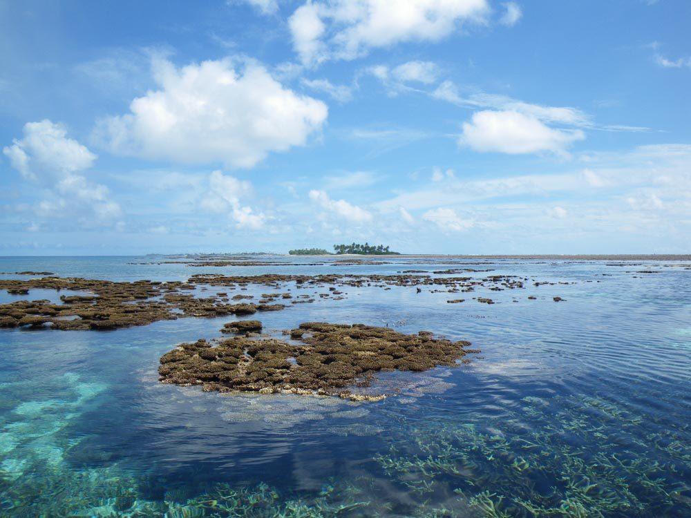 les îles Marshall font parties des îles qui disparaîtront d'ici 80 ans.