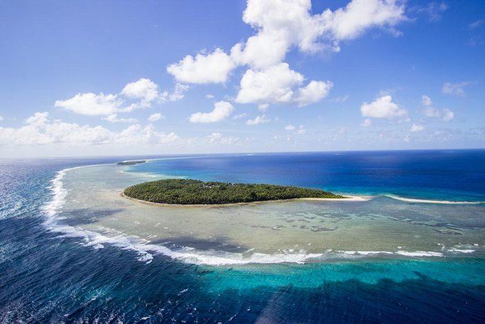 Les îles de la Micronésie font parties des îles qui disparaîtront d'ici 80 ans.