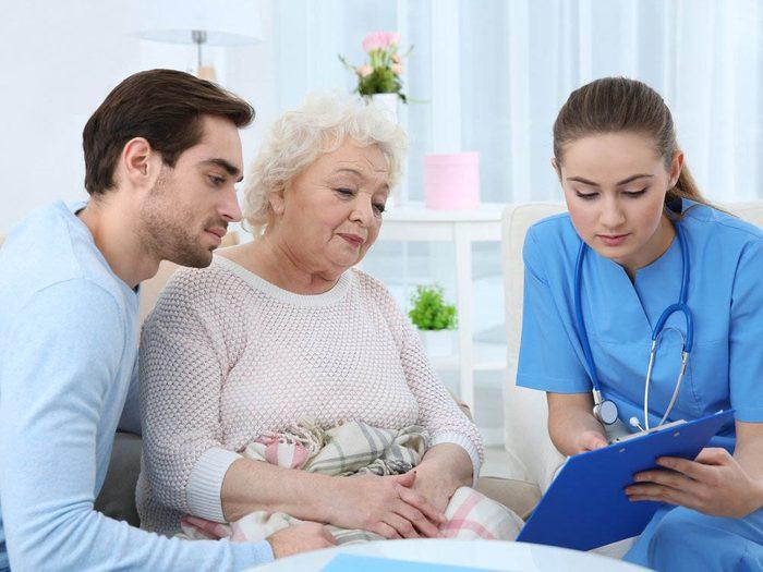 Les infirmières préfèrent connaitre les attentes des familles.